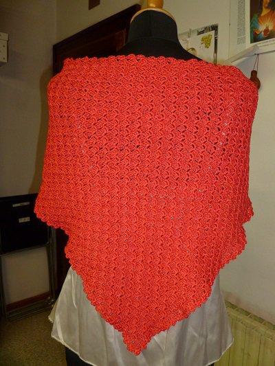 scialletto  colore rosso red
