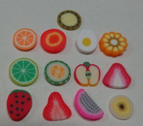 130 Fettine di Polymer clay Canes - INSALATA O MACEDONIA