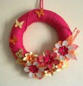 Ghirlanda Decorativa Fuoriporta o da Parete - Summer Flowers^^