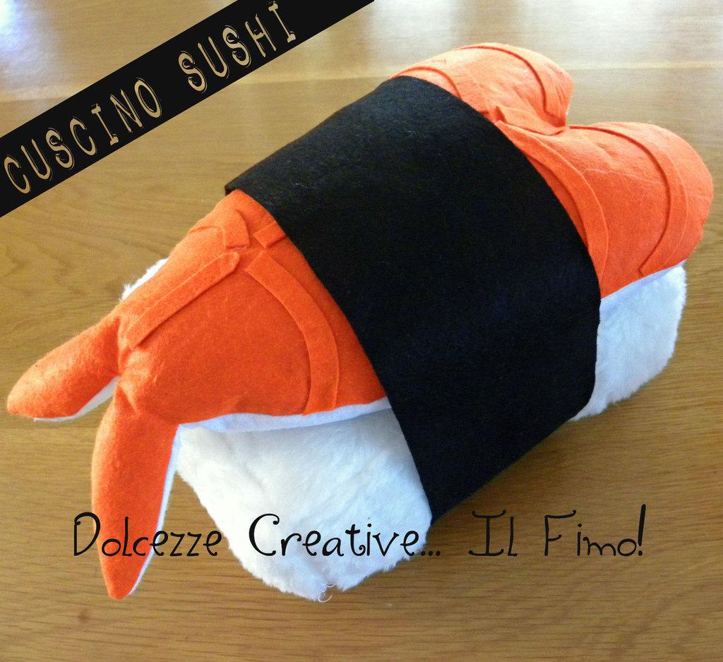 Cuscino Sushi Sashimi Ebi Nigiri Riso Gamberetto Sushi lover (su ordinazione)