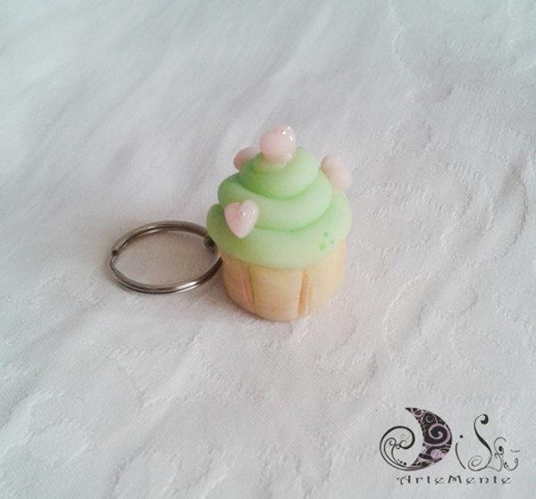 Portachiave cupcake idea regalo. bomboniera - favors compleanno