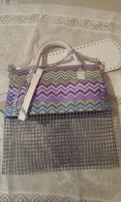Kit per borse in fettuccia : parte alta con rete e fondo ...