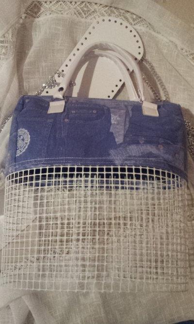kit per borsa in fettuccia parte alta con rete