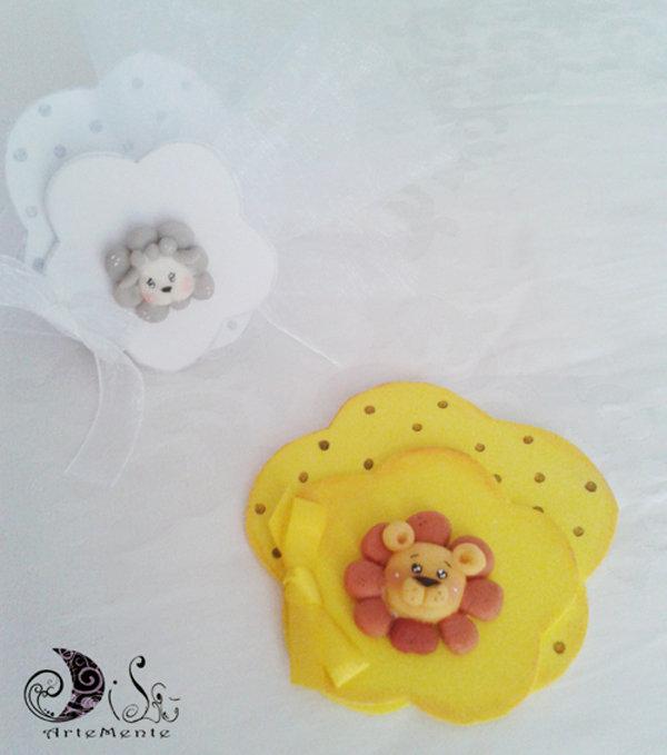 Portaconfetti battesimo nascita colorati animaletti