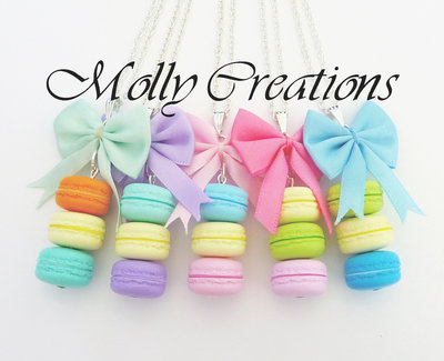 Collana Macarons in Fimo