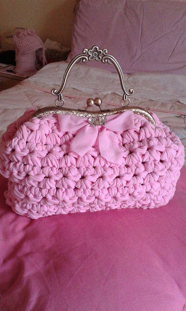 borsa rosa confetto