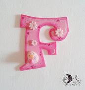 Lettere decorative con soggetto gufi