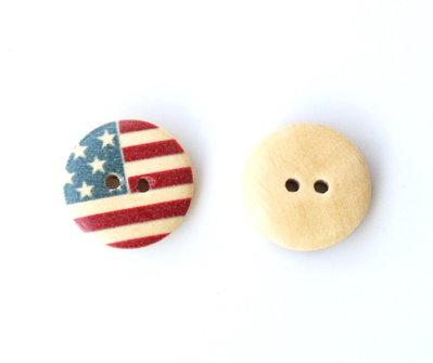 Set 10 bottoni 18 mm - USA