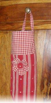 Portasacchetti country rosso