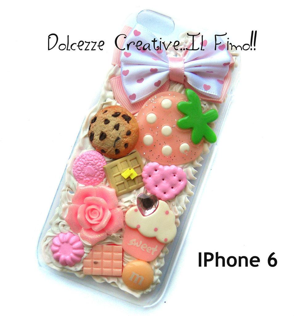 Cover Iphone 6/6s Pastel goth, miniature, kawaii, caramelle, cookie, biscotti, cioccolato,  cupcake, fragole, rose