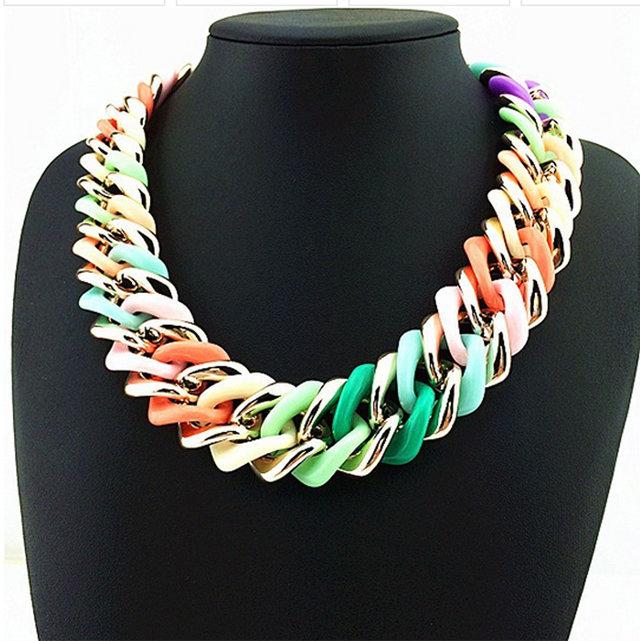 Collana anelli colorati fashion idea regalo donna