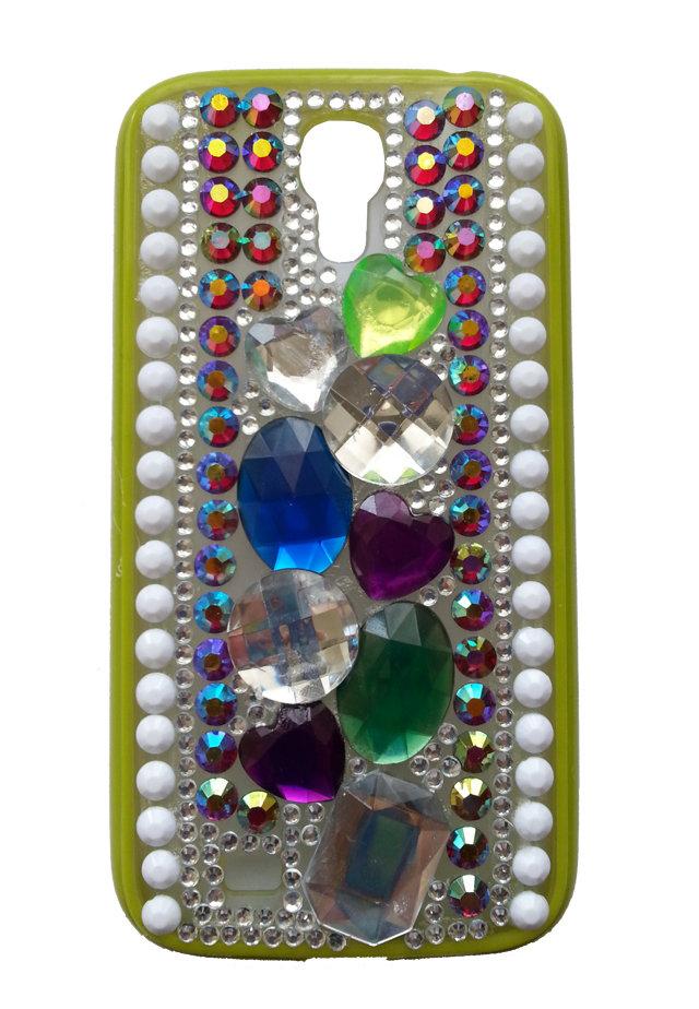 Cover fashion pietre e strass Samsung Galaxy S4 i9500 i9505 i9515 - PEZZO UNICO!