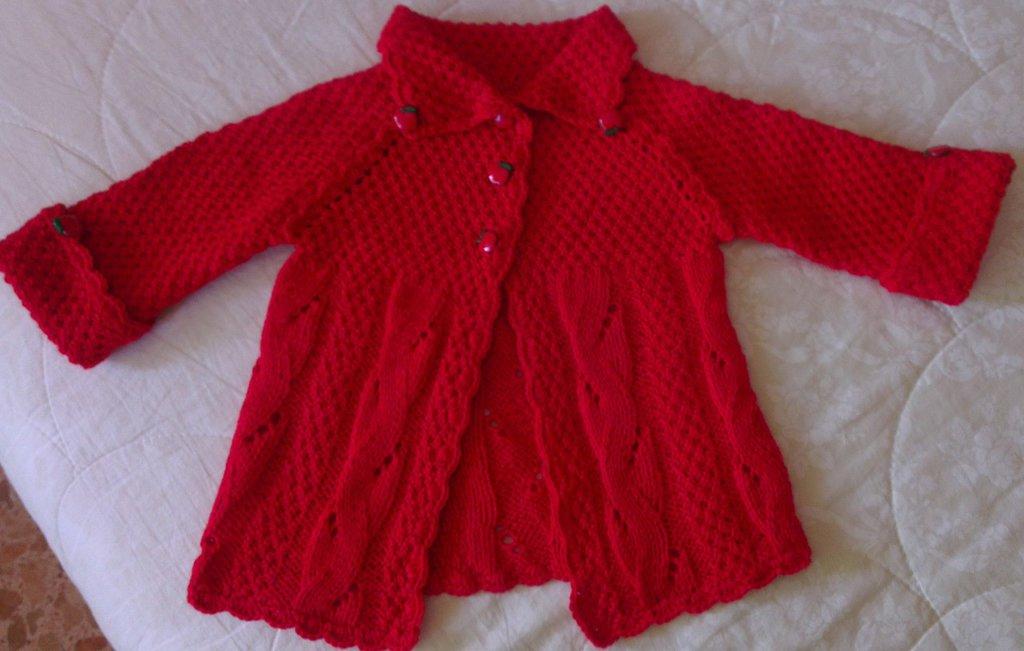 cappottino rosso per bambina