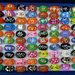 200 pezzi - 100 Anelli Colorati + 100 Orecchini Pendenti lotto stock Bigiotteria Donna Bambina