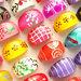 100 Anelli Colorati Plastica resina acrilici Bigiotteria lotto e stock rivendita donna bambina economici