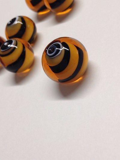 PERLA TIGRATA:set di 10 perle in vetro di Murano.