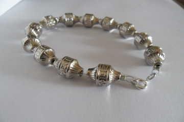 Bracciale unisex in plastica color argento