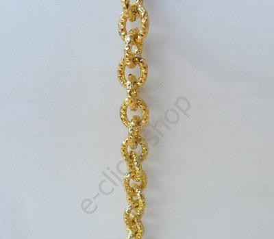"""Catena """"martellata"""" color oro anelli ovalizzati 1 mt"""
