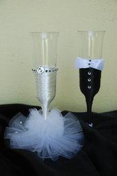bicchieri per brindisi nuziale
