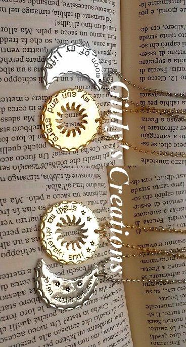 Collana Moon of My Life-My Sun and Stars Daenerys Targaryen e Khal Drogo GAME OF THRONES Il Trono di Spade