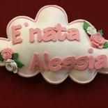 Fiocco nascita nuvola rosa