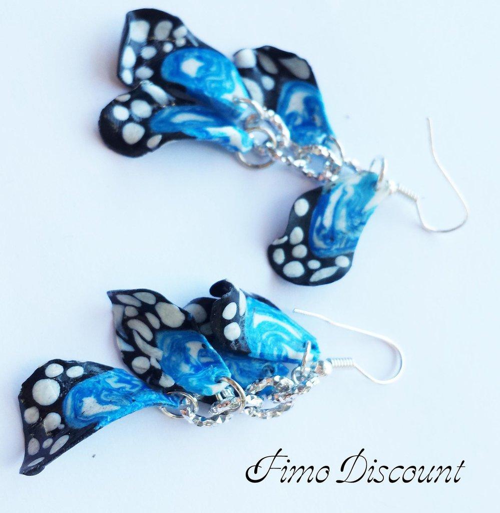 Orecchini con Ali di farfalle in Fimo