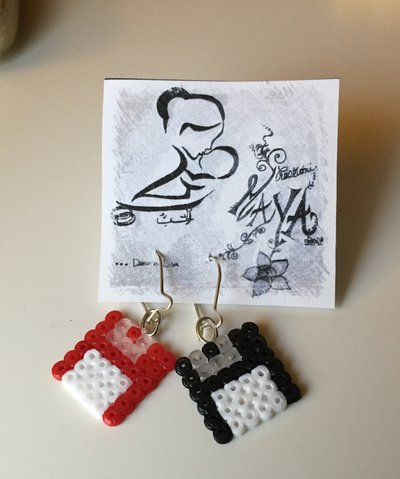 Orecchini Hama beads Floppy