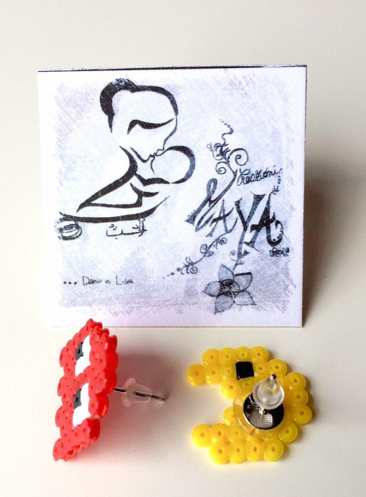 Orecchini Hama Beads PacMan