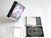 Suncoh, porta CD geek ecosostenibile in PETG smontabile e trasportabile in una custodia per CD