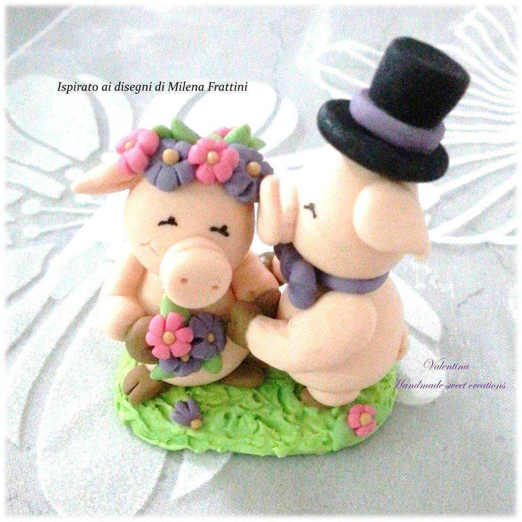 Per Stareck-   Bomboniera cake topper matrimonio