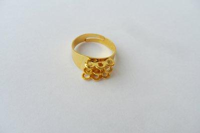base anello a fascia 9 asole color oro