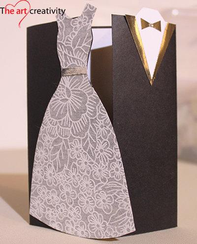 """Biglietto """"Sposi eleganti"""""""