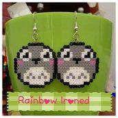 orecchini Totoro-hama beads mini