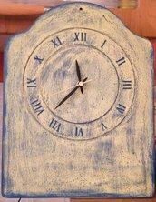 Orologio shabby vintage con meccanisco funzionante