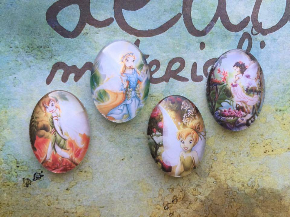 """Lotto 4 cabochon """"Trilly"""" mod.005"""
