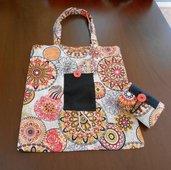 Borsa spesa shopping bag in stoffa richiudibile