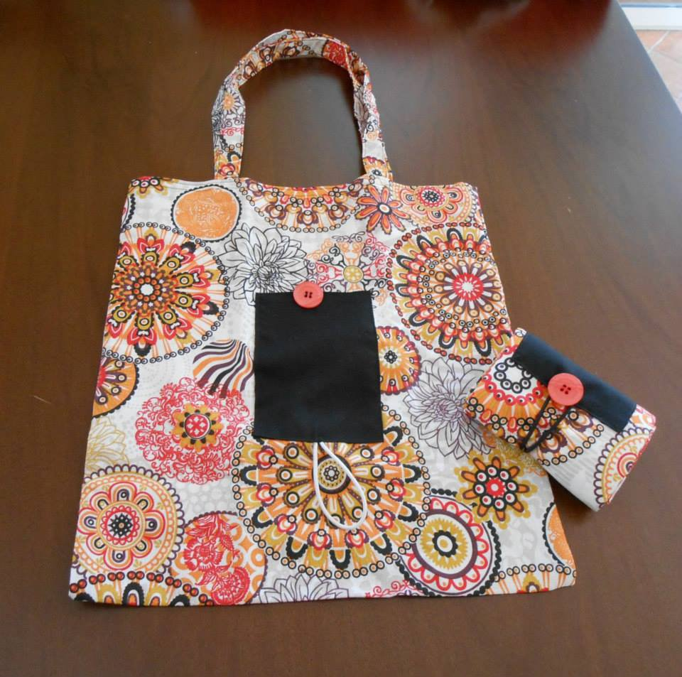 Borsa spesa shopping bag in stoffa richiudibile