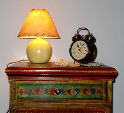 Lampada da tavolo ceramica abat jour