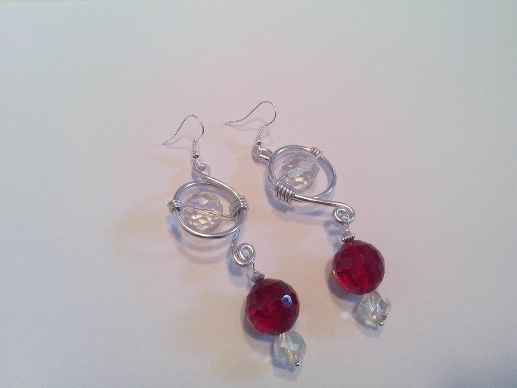 orecchini pendenti wire con cristallo