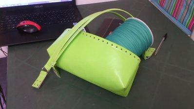 kit borsa in fettuccia ecopelle