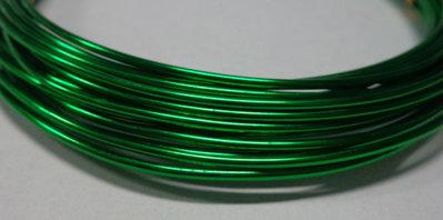 6 metri Filo Alluminio colore VERDE 1.5 mm.