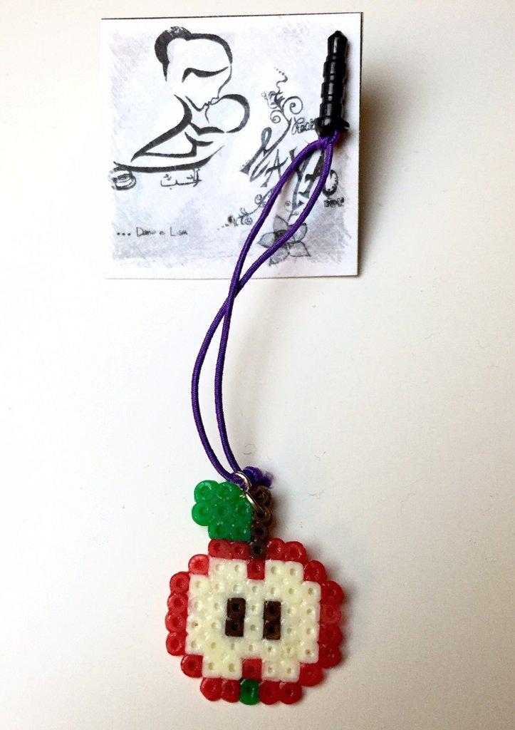 Ciondolo per smartphone Hama Beads Mela