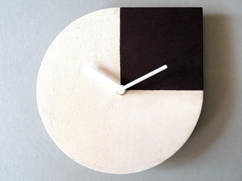 Rholog, orologio da muro in legno omaggio ad Andy Warhol