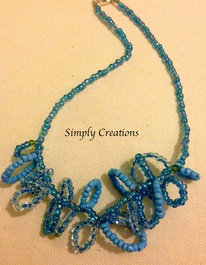 Collana anelli di perline