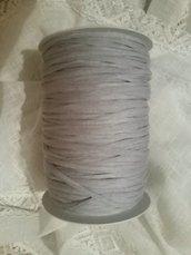 Fettuccia cotone  grigio perla