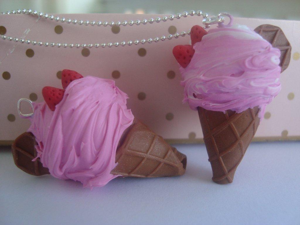 cono gelato fragola
