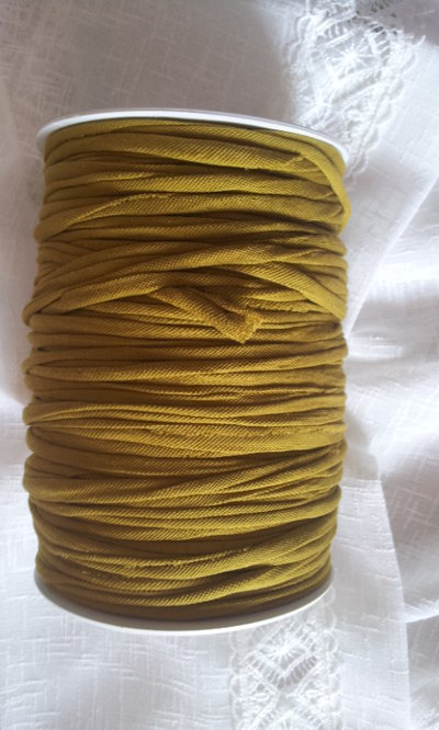 Fettuccia cotone piquet verde kaki