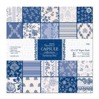 Blocco di carta 20x20 cm - Parisienne Blue