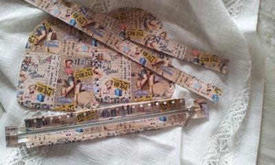 kit Laterali bauletto manici 4 fori + cerniera per borse in fettuccia