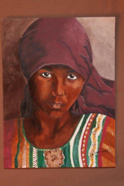 ritratto di ragazza con il velo